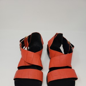 Balenciaga Red embossed leather Sandals