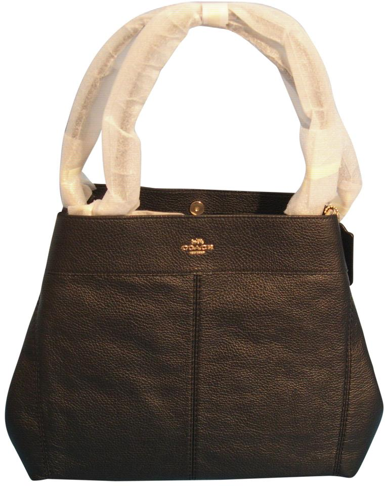 6e1905ff4c6cb Coach Lexy In F28997 In Black Pebbled Leather Shoulder Bag - Tradesy