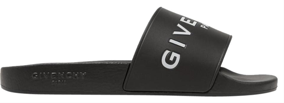 ca2b74cbee20 Givenchy Black Logo-print Rubber Slides Sandals Size EU 37 (Approx ...