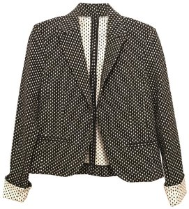 Amanda + Chelsea Jacket Stretchy Comfortable Spring Fall black white gray Blazer