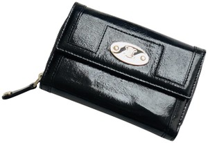 Céline Vintage Black Patent Leather Celine Zip-Closure Wallet