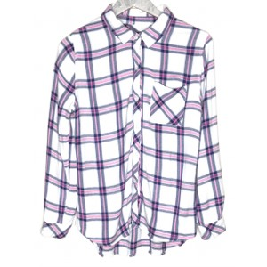 Rails Plaid Gingham Button Down Shirt White, Pink, Blue