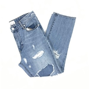 Paper Denim & Cloth Vintage Distressed High Rise Boyfriend Cut Jeans-Distressed