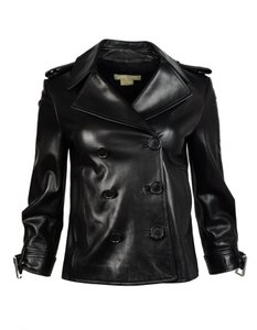 Michael Kors Double Breasted Leather Jacket