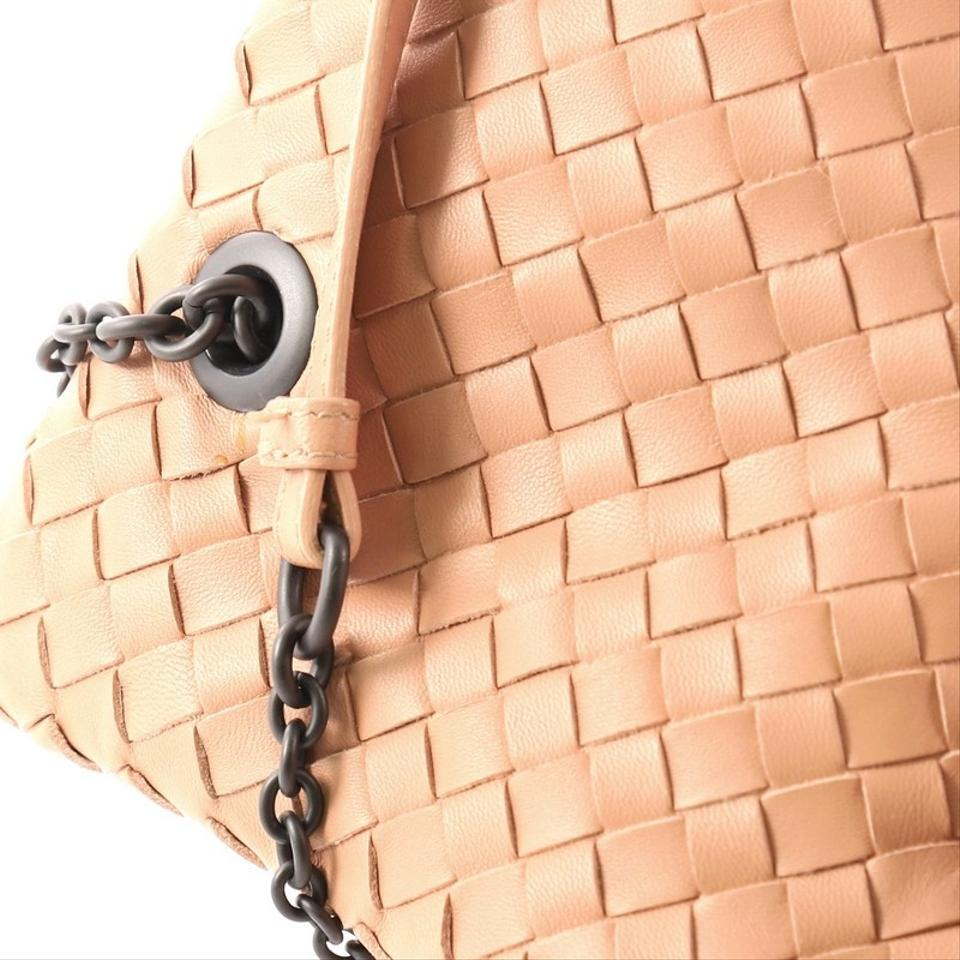 7d8946fca4 Bottega Veneta Duo Intrecciato Dark Nude Nappa Leather Tote - Tradesy