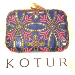 Kotur BLUE WITH PINK Clutch