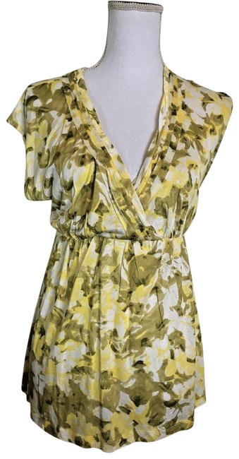 Item - Green Yellow Floral Mediumnew with Tags Tunic Size 8 (M)