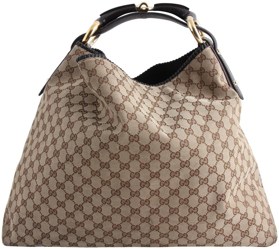 4f079b6d6def68 Gucci Horsebit Gg Fabric Chain Large Multicolor Coated Canvas Hobo Bag