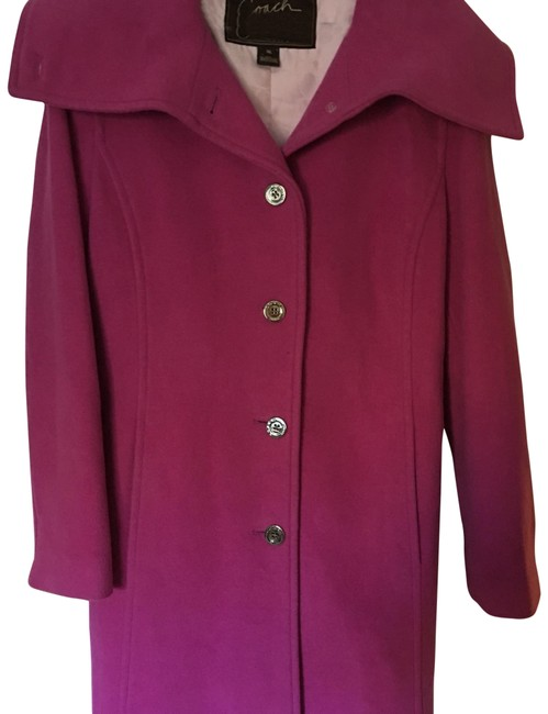 Item - Fushia/ Pink/ Purple Wool/Angora Coat Size 12 (L)