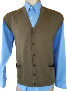 d9426424e97 Brooks Brothers BROOKS BROTHERS MAN VEST MERINO WOOL BUTTONS GREEN  EXCELLENT SIZE XL