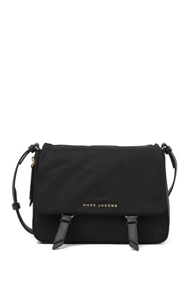 a296f5628b29 Marc by Marc Jacobs Zip That Messenger Black Leather Cross Body Bag ...