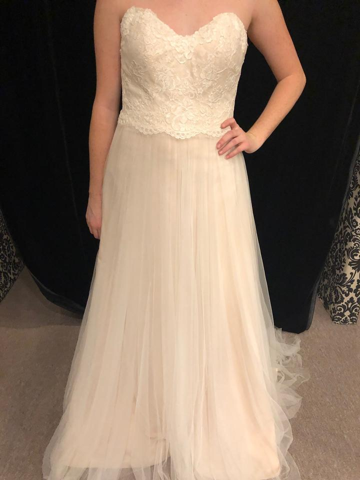 Stella York Ivory Peony Lace Tulle 6025 Casual Wedding Dress Size 10 M 39 Off Retail
