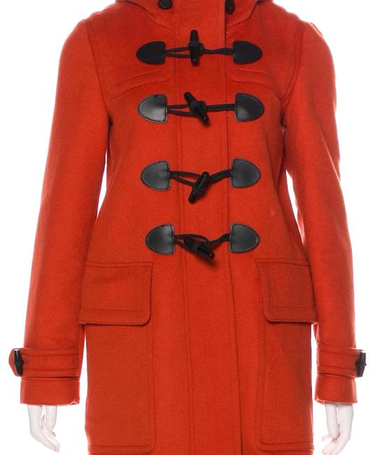 Item - Orange Red Wool Toggle Coat Size 2 (XS)