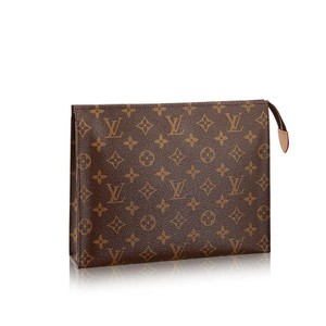 Louis Vuitton Monogram Leather Brown Clutch