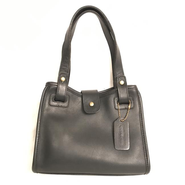 Coach Rare Chauncey Vintage Black Leather Tote Coach Rare Chauncey Vintage Black Leather Tote Image 1