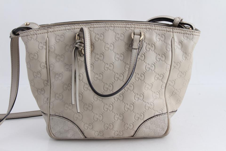 146ab3d78385 Gucci Bree Small Gg Leather Cream Canvas Tote - Tradesy