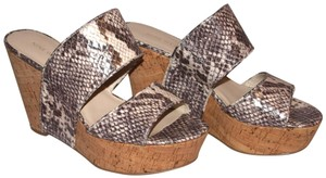 Nine West Gray Fashion Snakeskin Wedges
