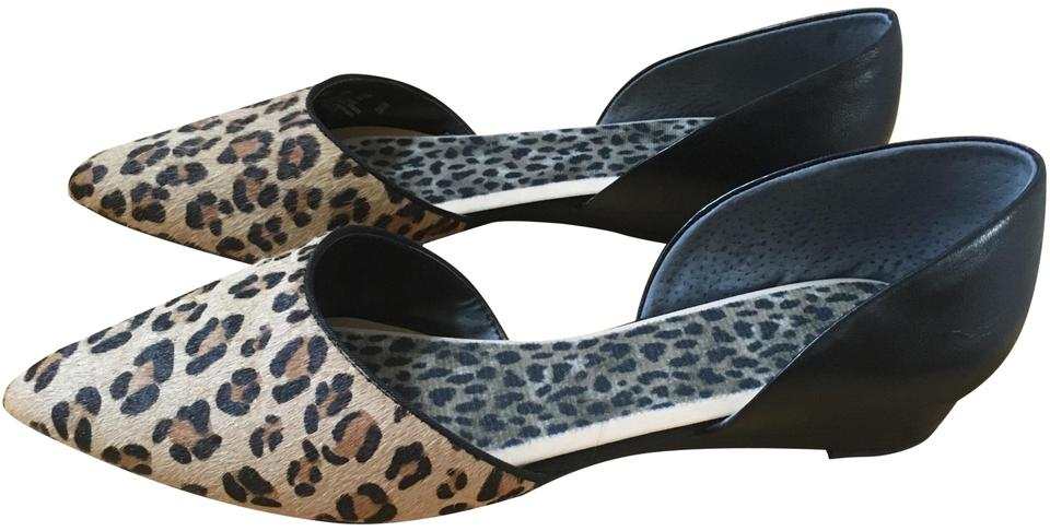 33c0eacb6d1 Franco Sarto Leather Party Pny Hair Leopard   Black Flats Image 0 ...