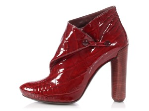 Louis Vuitton Lv.p1022.20 Crocodile Burgundy Delft Reduced Price Red Boots