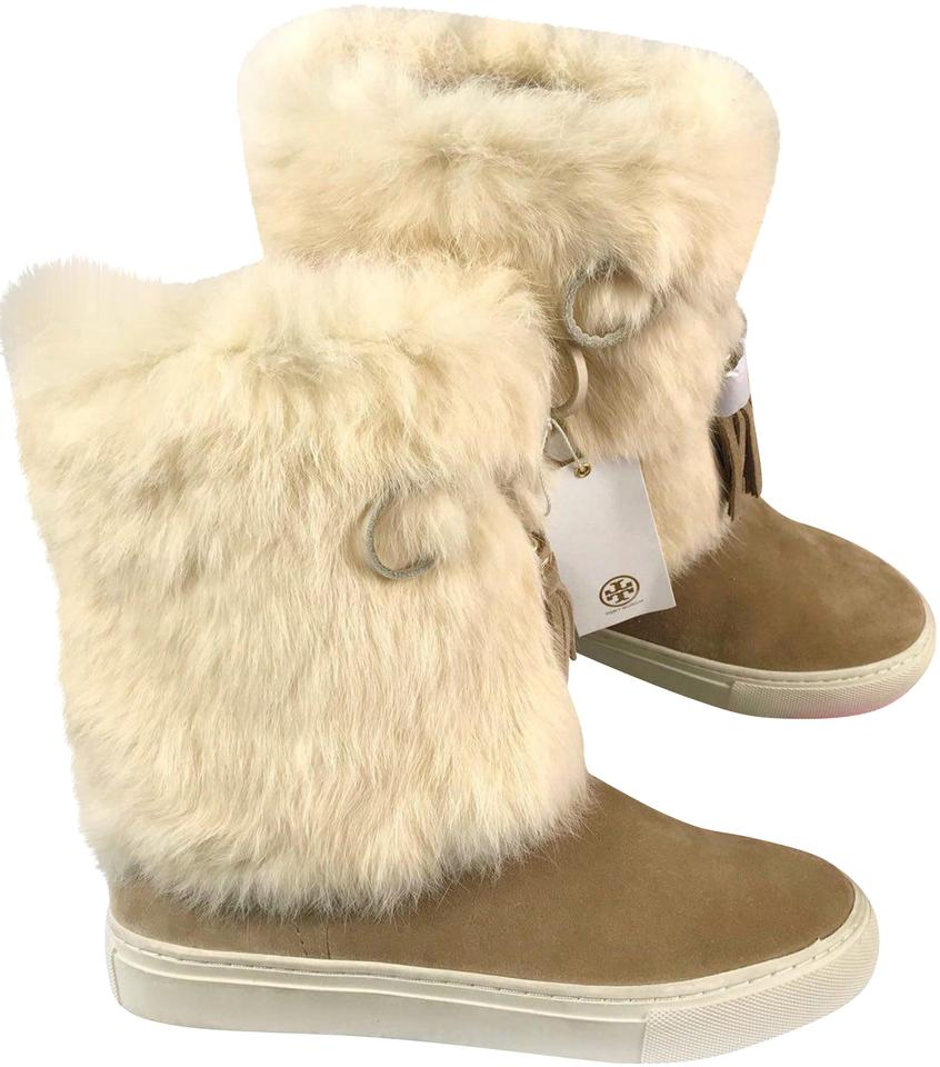 ff965fde68ad Tory Burch Tan Women s Real Rabbit Fur Winter New with D Boots Booties
