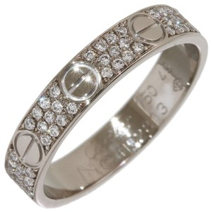 Cartier love paved diamond ring