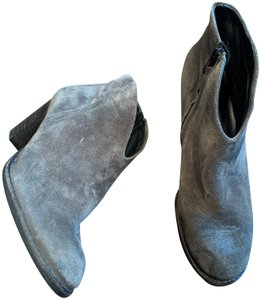 Paul Green Suede Ankle Cowboy Gray Boots