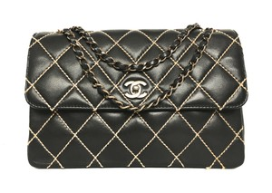 Chanel Black Bronze Classic Surpique Shoulder Bag