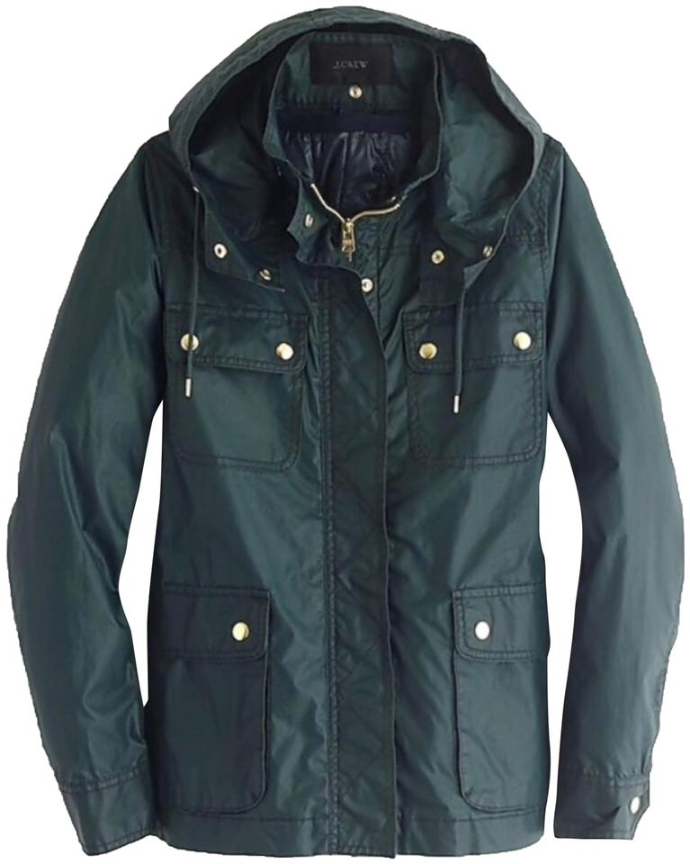 J Crew Dark Green Nwot Downtown Field With Zipout Vest