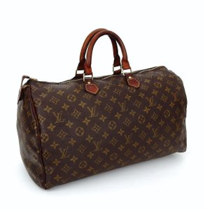 Louis Vuitton Sdy 40 Monogram Keepall Boston Tote In Brown