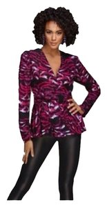 Kardashian Kollection Top Fuchsia/Black