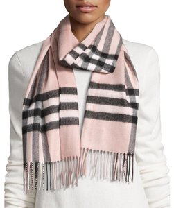 Burberry Ash Rose Pink Giant Check Classic Cashmere