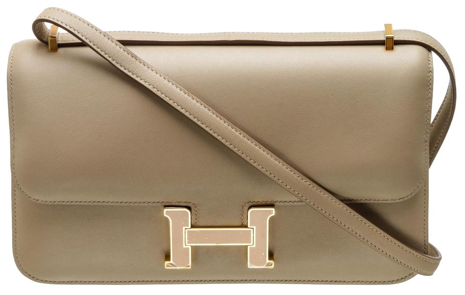 d946082b7c37 Hermès Constance 484823 Argile Veau Swift Shoulder Bag - Tradesy
