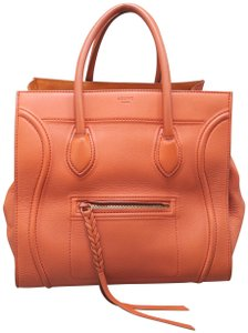 Céline Cabas Phantom Calfskin Tote in oranged