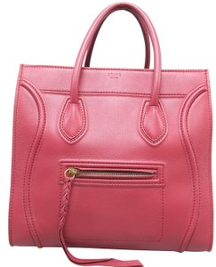 Céline Phantom Medium Calfskin Tote in Red