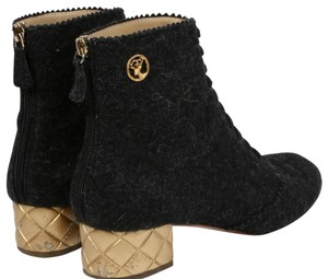 Chanel Round Toe Gray Boots