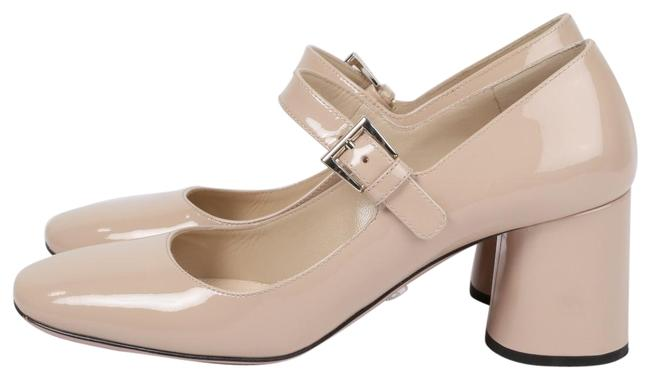 Item - Beige Patent Leather Mary Jane Heels Formal Shoes Size US 6 Regular (M, B)