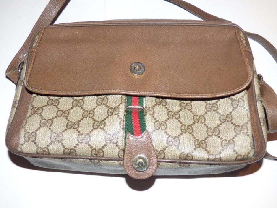 141698131a74 Gucci Vintage Gg Web Purses/Designer Purses Shades Of Brown with ...