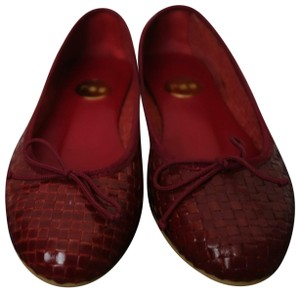 Ras Leather Flats Waived Size 38 Red Pumps