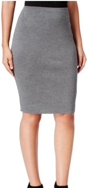 Item - Ash Grey Wool The Icons Pencil Pm Skirt Size Petite 8 (M)