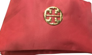 Tory Burch Beautiful Rosy 3 Compartment everything Bag--Nice and Roomy-clutch/