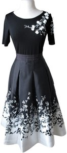 White House | Black Market Floral Skirt Floral Top Embroidery Dress