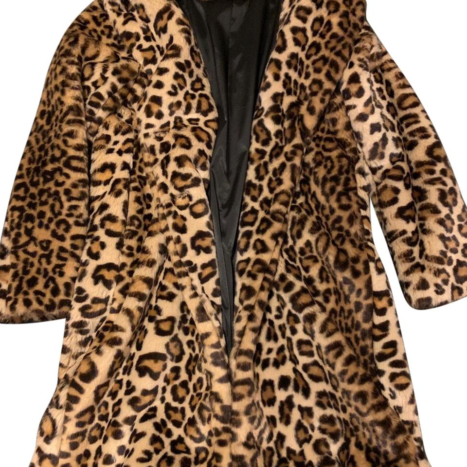 c27fd003 Zara Dark Brown and Tan Faux Fur Leopard Print Coat Jacket Size 4 (S) 47%  off retail