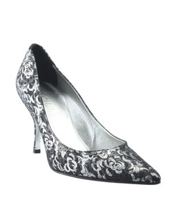 Chanel Heels Fabric Pre-owned Italy BlackxSilver Boots