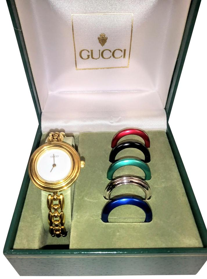 a2a639716fb Gucci Vintage Gucci interchangeable bezel Swiss made watch Image 0 ...