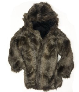 Juicy Couture Faux Hooded Fur Coat