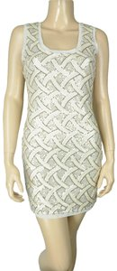 Ark & Co. Sequin Bodycon Stretch Gold Dress