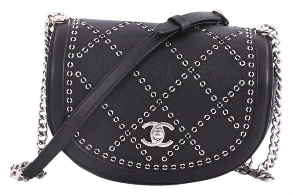 333795fb45acc1 Chanel Classic Flap Coco Eyelets Round Quilted Calfskin Small Black ...