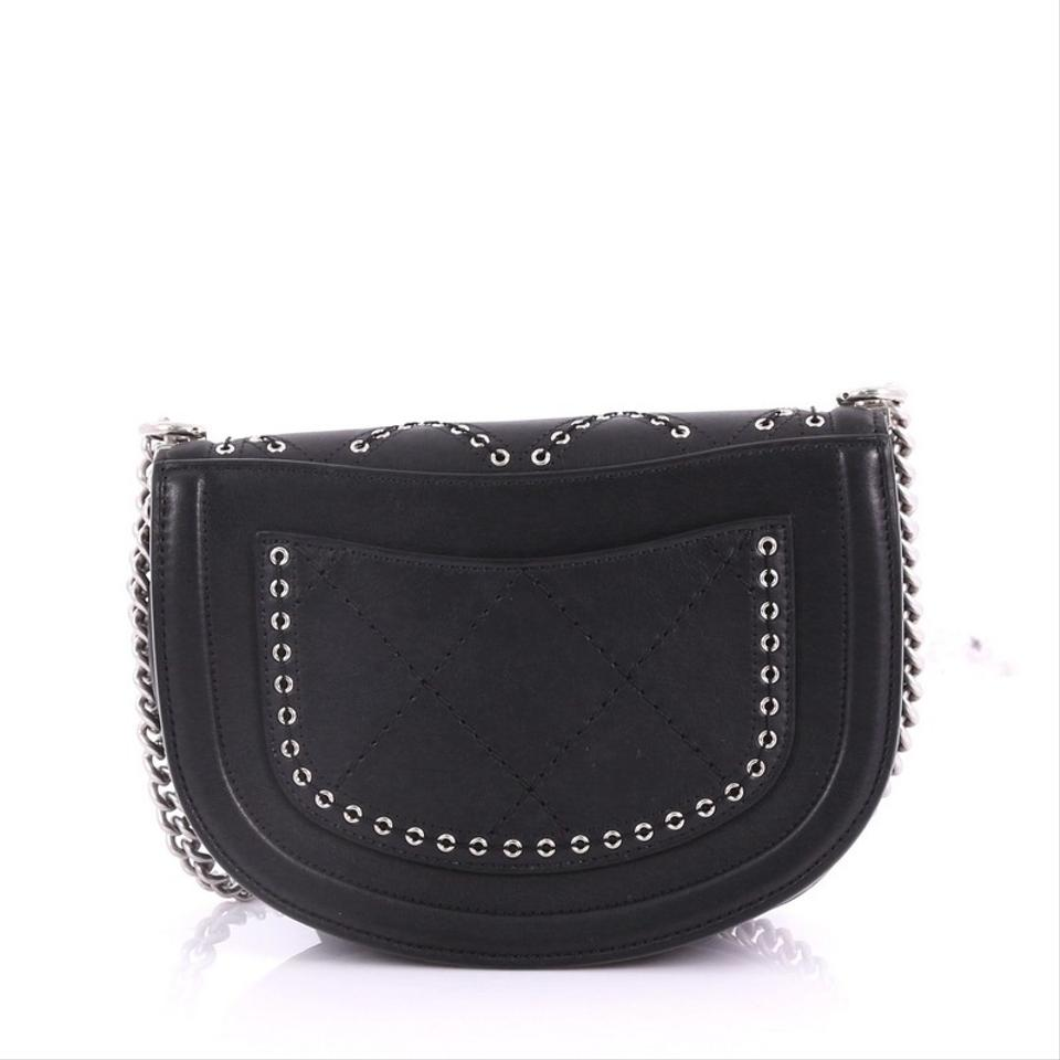 d9c9ea128610 Chanel Classic Flap Coco Eyelets Round Quilted Calfskin Small Black ...