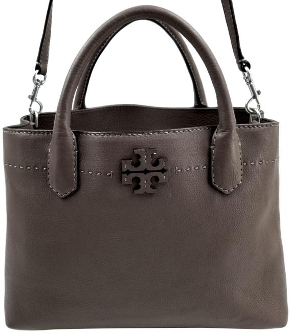 Item - Mcgraw Triple Compartment Silver Maple Leather Satchel