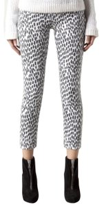 Mother High Waisted Looker Crop Cheetah Denim Skinny Jeans
